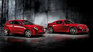Picture Alfa Romeo 2 Red Metallic auto