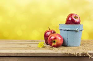Fotos Äpfel Eimer Drei 3 das Essen