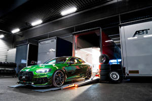 Wallpapers Audi Tuning Green Coupe 2018 ABT RS 5-R Coupe automobile