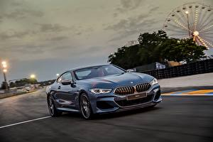 Images BMW At speed Coupe Blue 2018 M850i xDrive 8er G15 auto