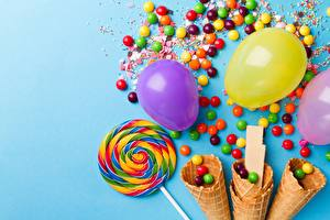 Wallpapers Candy Lollipop Dragee Balloons Ice cream cone Food