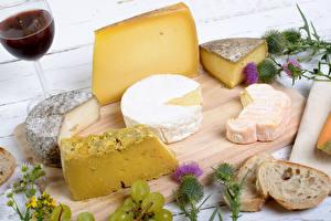 Wallpapers Cheese Wine Bread Cutting board Stemware Food