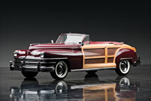 Wallpaper Chrysler Retro Cabriolet 1946 Town auto