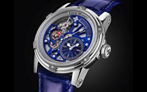Bilder Uhr Armbanduhr Nahaufnahme Mechanismus Zahnräder Louis Moinet