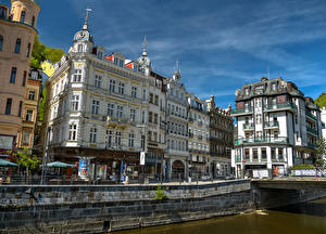 Picture Czech Republic Building Canal Street Karlovy Vary Cities