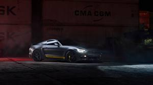 Desktop hintergrundbilder Ford Graue Mustang GT 700hp 2019 by Dennis Ardel auto