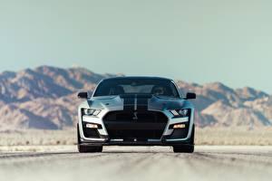 Hintergrundbilder Ford Vorne Strips Mustang Shelby GT500 2020 Autos