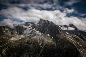 Bilder Frankreich Berg Wolke Alpen Les Drus, le Montenvers, France
