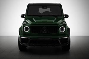 Hintergrundbilder G-Modell Mercedes-Benz Vorne Grün AMG Inferno 2019 auto