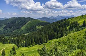 Bilder Deutschland Berg Wald Himmel Landschaftsfotografie Bayern Alpen Wolke Oberallgau Natur