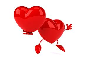 Hintergrundbilder Herz Rot Weißer hintergrund 2 3D-Grafik