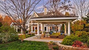 Image Building Interior Mansion Design Couch Shrubs Cities