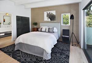 Fotos Innenarchitektur Design Schlafkammer Bett Teppich