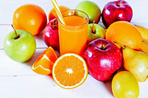 Images Juice Apples Pears Orange fruit Fruit Highball glass Food