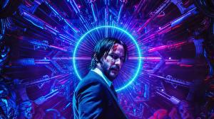 Pictures Keanu Reeves Assault rifle John Wick: Chapter 3 – Parabellum Celebrities