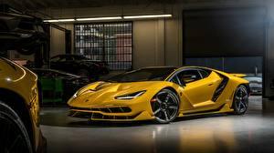 Fotos Lamborghini Coupe Gelb Centenario