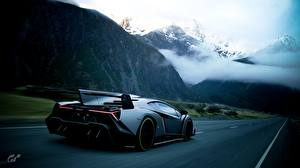 Hintergrundbilder Lamborghini Gran Turismo Wege Hinten Veneno Autos