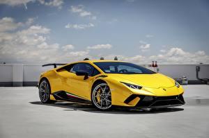 Hintergrundbilder Lamborghini Gelb Performante Huracan