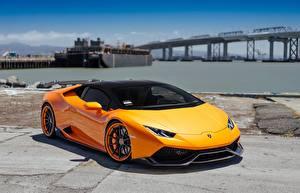 Bilder Lamborghini Orange VAG Performante Huracan