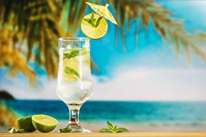 Wallpapers Mojito Cocktail Lime Stemware Food