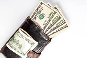 Papel de Parede Desktop Dinheiro Papel-moeda Dollars Fundo branco