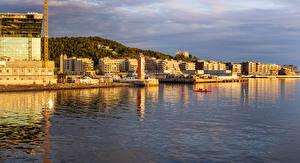 Bilder Oslo Norwegen Gebäude Bootssteg Bucht