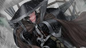Hintergrundbilder Regen Der Hut Samurai Tropfen