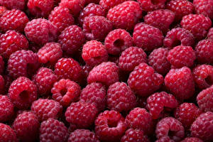 Wallpaper Raspberry Texture Many Food