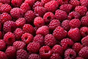 Fotos Himbeeren Textur Viel das Essen