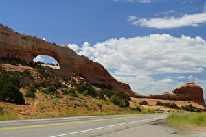 Bilder Wege Parks USA Felsen Bogen architektur Bryce Canyon National Park, Utah Natur