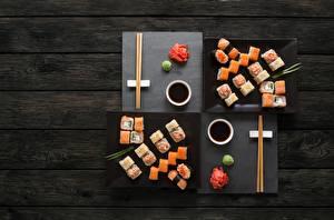 デスクトップの壁紙、、寿司、魚料理、箸、醤油、木の板、食品
