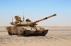 Hintergrundbilder Panzer Wüste Russische T-90MC