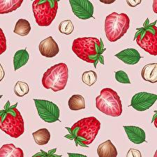 Fotos Textur Erdbeeren das Essen