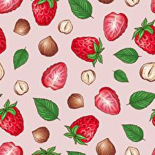 Wallpaper Texture Strawberry Food