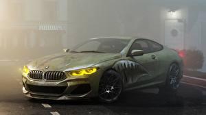 Bilder Tuning BMW Grün Coupe M8 M850i by Alexander Lukyanenko Autos