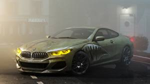 Pictures Tuning BMW Green Coupe M8 M850i by Alexander Lukyanenko Cars