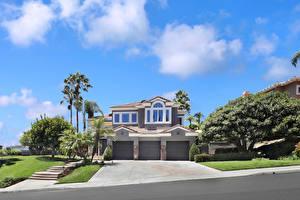 Fotos USA Haus Herrenhaus Design Garage Bäume Laguna Niguel Städte
