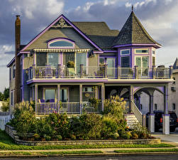 Fotos USA Haus Herrenhaus Design Strauch Zaun New Jersey Städte
