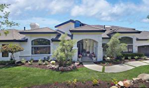 Hintergrundbilder USA Gebäude Kalifornien Herrenhaus Design Rasen San Juan Capistrano Städte