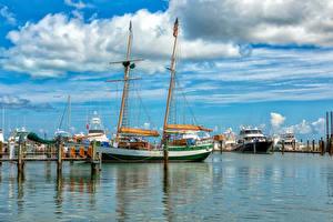 Pictures USA Berth Ships Sailing Florida Bay Key West Nature
