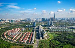 Bilder Vietnam Gebäude Wege Von oben Ho Chi Minh