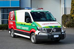 桌面壁纸,,大众汽车,2019 Crafter Ambulance,