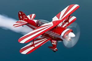 Hintergrundbilder Flugzeuge Flug Biplane, Pitts S-2B Luftfahrt