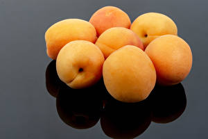 Wallpaper Apricot Closeup Gray background