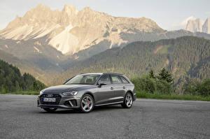 Fotos Audi Grau Metallisch Kombi 2019 A4 Avant 40 TDI S line quattro Worldwide auto