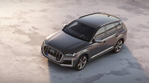 Hintergrundbilder Audi Grau Metallisch 2019 SQ7 TDI Worldwide automobil