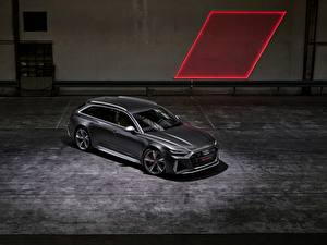 Hintergrundbilder Audi Grau Kombi 2020 2019 V8 Twin-Turbo RS6 Avant auto