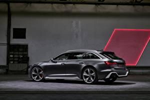 Bilder Audi Seitlich Kombi 2020 2019 V8 Twin-Turbo RS6 Avant Autos