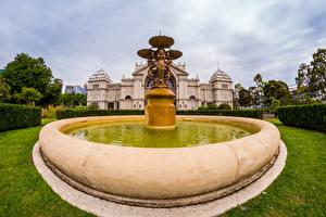 Bilder Australien Melbourne Parks Springbrunnen Skulpturen
