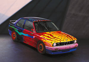 Picture BMW Antique Tuning 1989 M3 Group A Art Car by Ken Done automobile